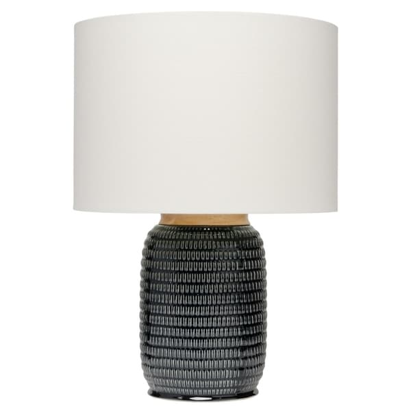 Shop Alden Décor Graham Table Lamp In Dark Navy Ceramic Free