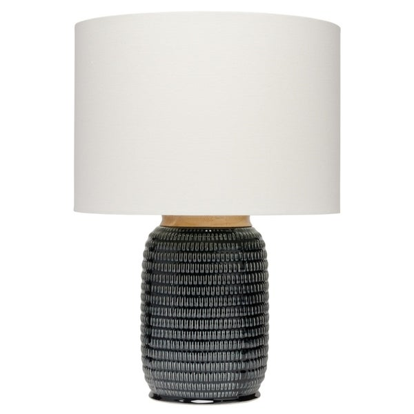navy table lamp gourd alden décor graham table lamp in dark navy ceramic shop on sale