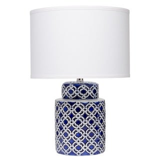 Marina Table Lamp in Blue and White Ceramic