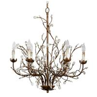Alden Décor 6 Light Iron Branch Chandelier - Rust