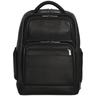 Kenneth Cole Reaction Colombian Leather Dual Compartment 15.6-inch Laptop Business Backpack with Anti-theft RFID