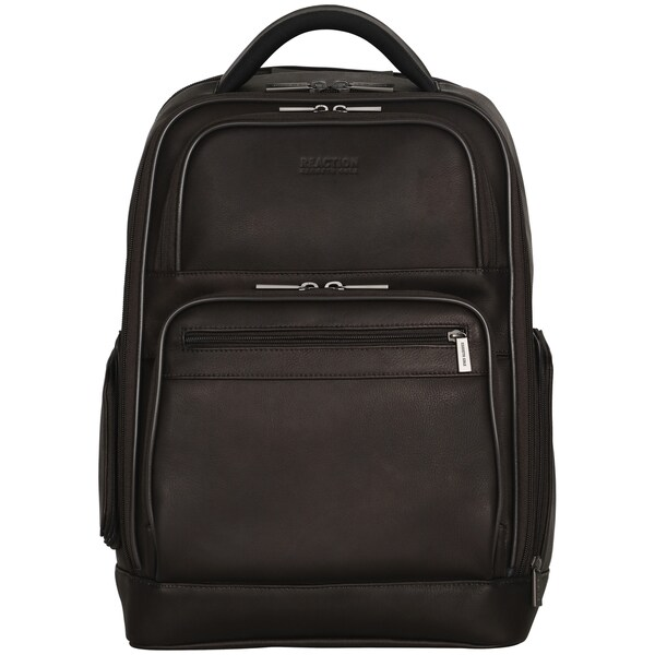 fc482e692 Kenneth Cole Reaction Colombian Leather Dual Compartment 15.6-inch Laptop  Business Backpack with Anti-