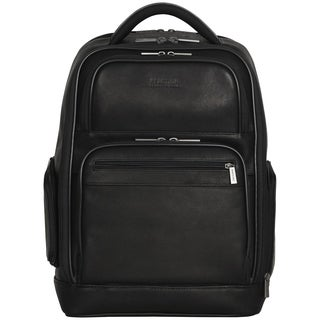 Kenneth Cole Reaction Colombian Leather Dual Compartment 15.6-inch Laptop Backpack with Anti-theft RFID