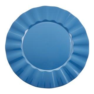 Metallic Ruffle Border Round Charger Plate - set of 4 pcs