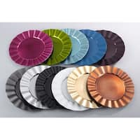 Metallic Ruffle Border Round Charger Plate - set of 4 pcs