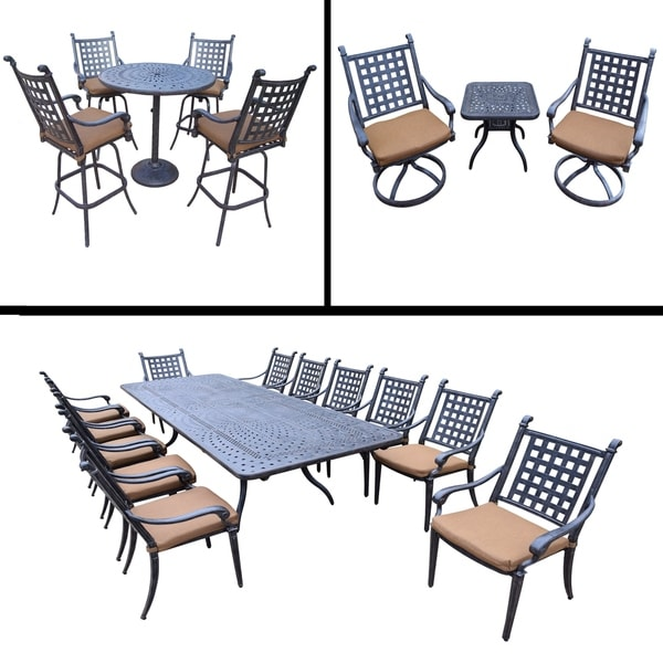 Sunbrella Cushioned Set Includes 13 Pc Dining Set With Extendable Table  U0026amp; 12 Chairs,