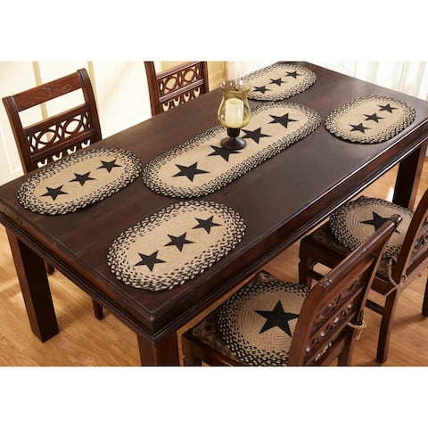 """Star 13x19 Rustic Black Placemats- Set of 4 - 13"""" X 19"""""""