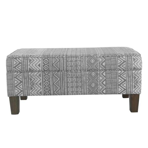 Porch U0026amp; Den Los Feliz Prospect Large Decorative Storage Bench   Global  Gray