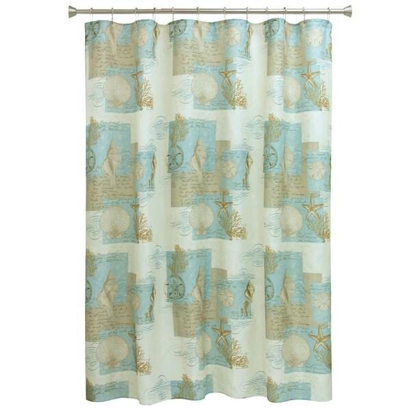 Shop Coastal Moonlight Shower Curtain By Bacova