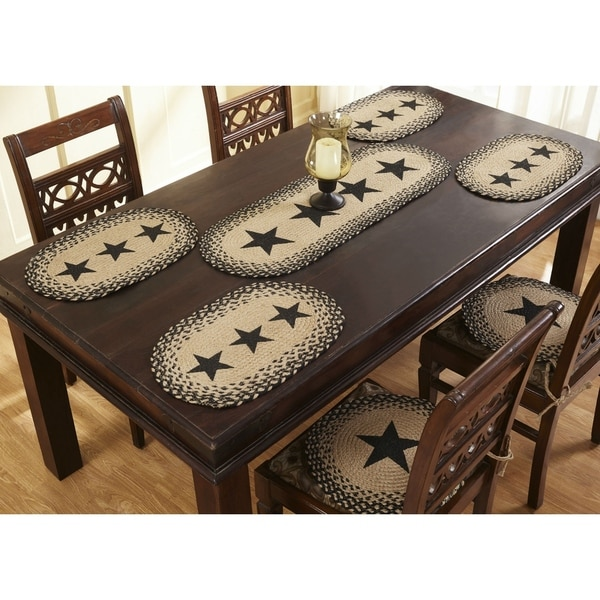 "Star 15"" S/4 Jute Chair Pads"