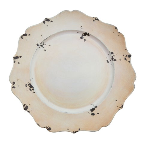 Curved Edge Rustic Charger Plate - set of 4 pcs