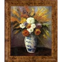 Paul Cezanne 'Dahlias' Hand Painted Oil Reproduction