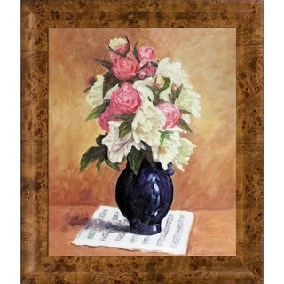 Paul Gauguin 'Bouquet of Peonies on a Musical Score, 1876' Hand Painted Oil Reproduction