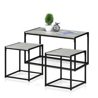 Furinno Modern Living Room Set Dark Oak  sc 1 st  Overstock & Table Sets Coffee Console Sofa \u0026 End Tables For Less   Overstock