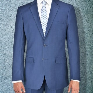 Carlo Studio Navy Blue Birds Eye Suit
