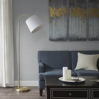 Madison Park Venus White/ Gold 64-inch Floor Lamp