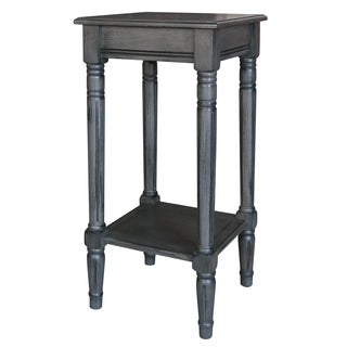 Three Hands Grey Wood Accent Table
