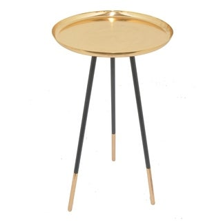 Three Hands Copper And Black  Metal Accent Table