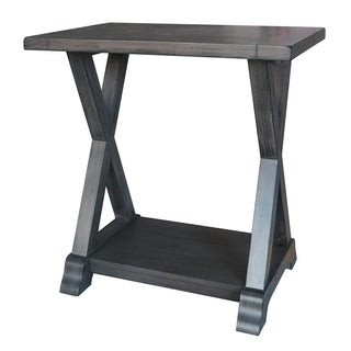 Three Hands Grey Wood Side Table