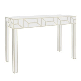 Three Hands Champagne Wood Console Table