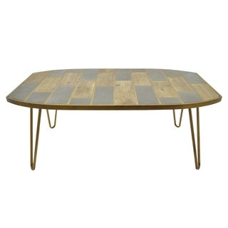 Three Hands Brown Wood Coffee Table