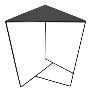 Three Hands Black Metal Triangle Side Table