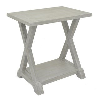 Three Hands Wood Side Table - Grey