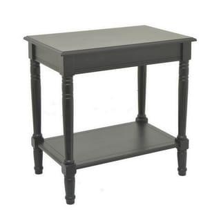 Three Hands Black Finish Wooden Console Table