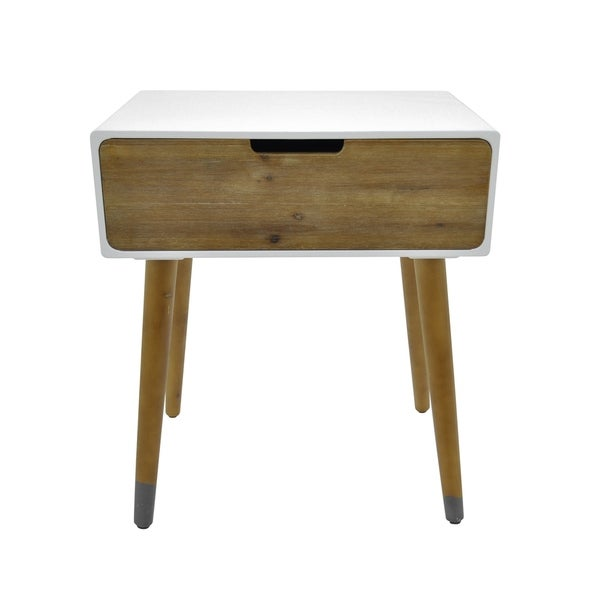 Three Hands Side Table With 1 Drawer