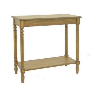 Three Hands Honey Brown Wood Console Table