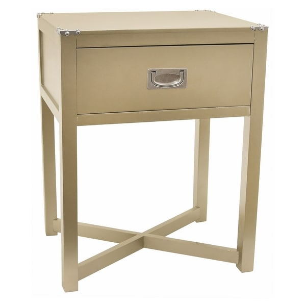 Three Hands Champagne Wood Side Table