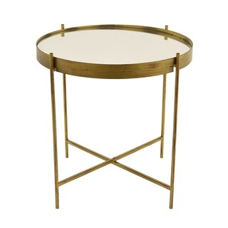 Three Hands Metal Mirrored Table