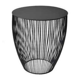 Three Hands Black Metal Accent Table