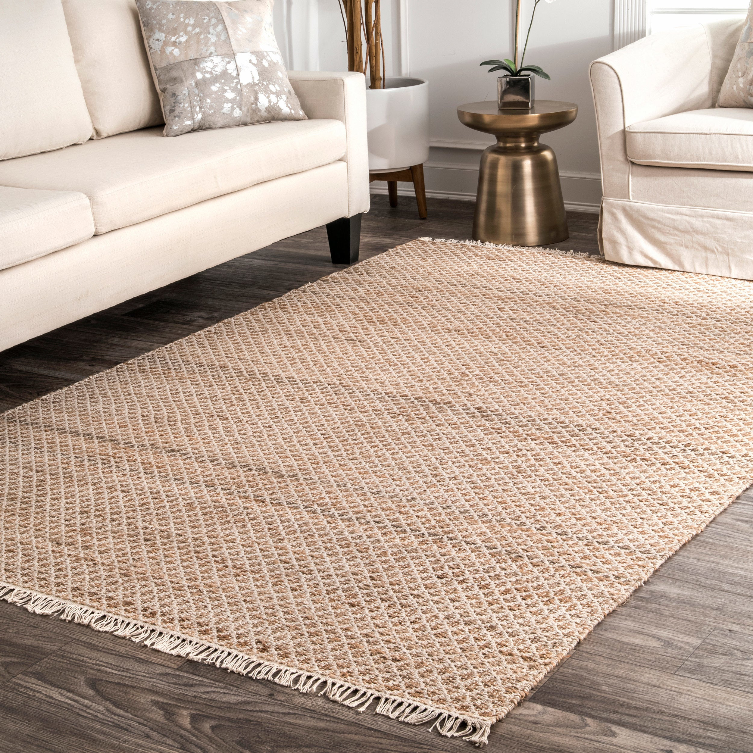 Nuloom Natural Jute Cotton Casual