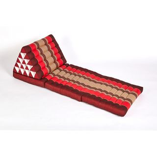 myZENhome Triangle Lounger Red/Burgundy