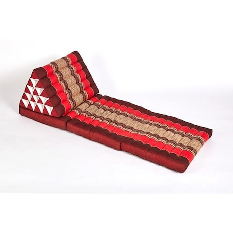 myZENhome Triangle Lounger & Recliner Red/Burgundy