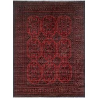Khal Mohammadi Ragnar Red/Black Rug (9'10 x 13'3)