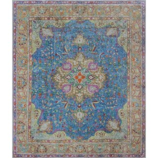 "Noori Rug Vintage Distressed Overdyed Alexi Blue/Brown Rug - 10'1"" x 12'2"""