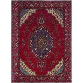 """Noori Rug Vintage Distressed Arleana Red/Blue Rug - 8'2"""" x 11'6"""""""