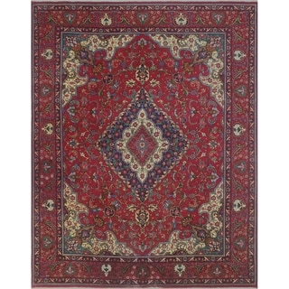 "Noori Rug Vintage Distressed Clark Red/Blue Rug - 9'10"" X 12'10"""