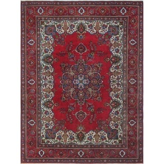 "Noori Rug Vintage Distressed Nancey Red/Blue Rug - 9'7"" x 12'8"""