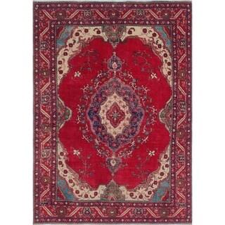 """Noori Rug Vintage Distressed Anthonie Red/Blue Rug - 6'8"""" x 9'1"""""""