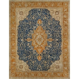 "Noori Rug Vintage Distressed Overdyed Addyson Blue/Rust Rug - 9'4"" x 12'2"""
