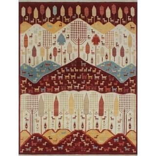 Noori Rug Aria Fine Chobi Benjy Ivory/Red Rug - 8'11 x 11'7