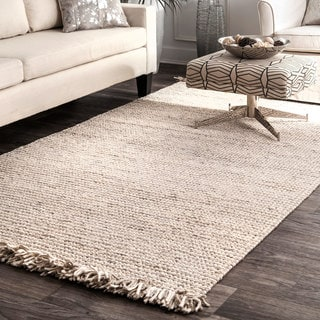 nuLOOM Handmade Ornate Felted Wool Dhurrie Fancy Area Rug
