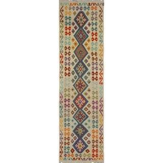 Sangat Kilim Tallon Beige/Blue Rug (2'9 x 9'9)
