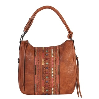 Diophy Beads and Embroid National Style Pattern Hobo