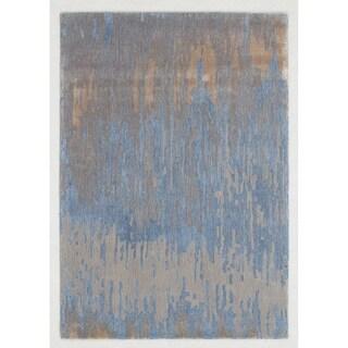 Libra Blue Gold Indoor Area Rug