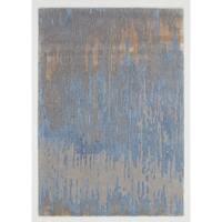 Libra Blue Gold Indoor Area Rug - 2' x 4'