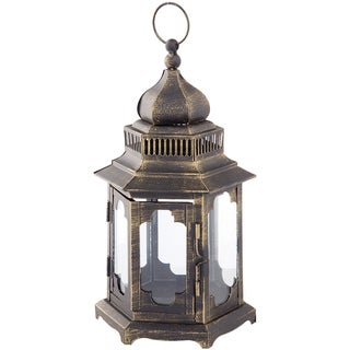 Metal Hexagon Lantern 10.6""